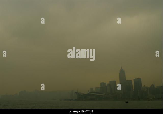 misty hong kong - Stock Image