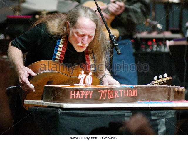 Willie Nelson Th Birthday Party Cake