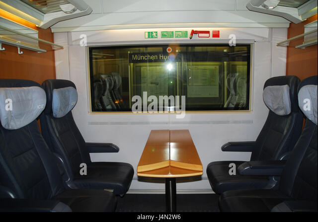 Intercity express compartment, 1st class, no property release, - Stock-Bilder
