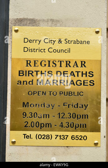Births and deaths register stock photos births and - Registry office of births marriages and deaths ...