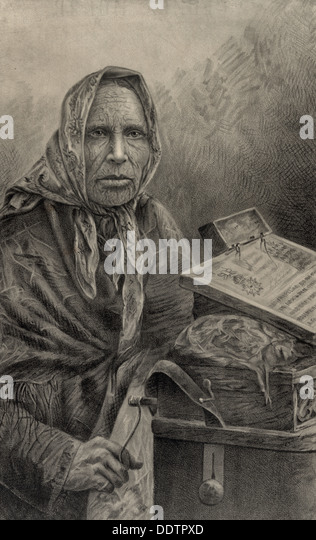 The Countess - old woman, circa 1886 - Stock-Bilder