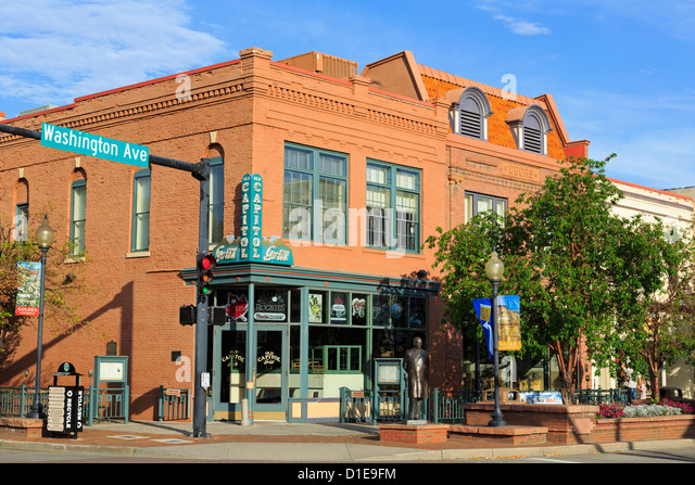 Washington Avenue in the Historic District, Golden, Colorado, United States of America, North America - Stock Image