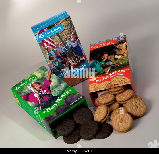 girl scout cookie stock photos amp girl scout cookie stock