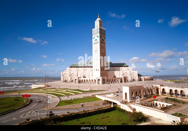 Hassan II Mosque, the third largest mosque in the world, Casablanca, Morocco, North Africa, Africa - Stock Image