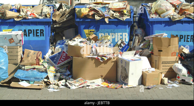 Congested paper banks, - Stock Image