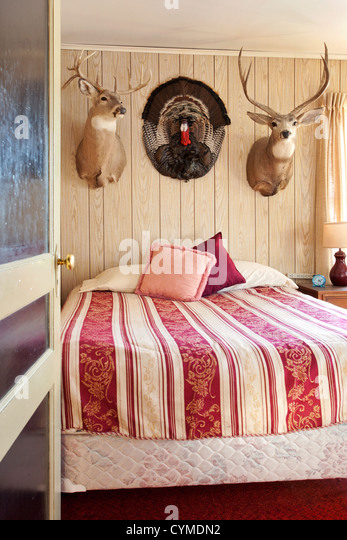 Americana bedroom - Stock Image