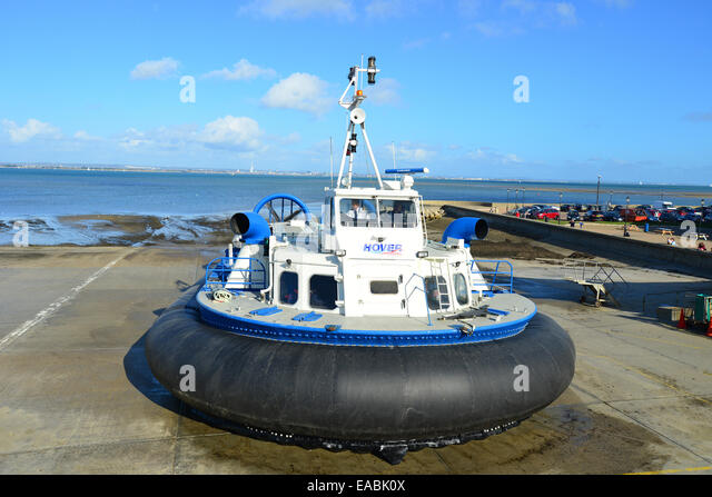 Hover Travel hovercraft, Ryde Harbour, Ryde, Isle of Wight, England, United Kingdom - Stock-Bilder