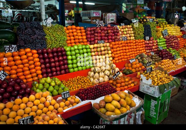 Peru, Chiclayo, Fruit market. - Stock Image