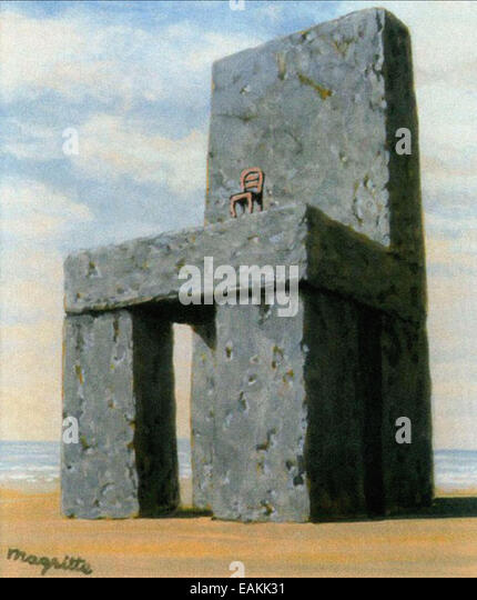 René Magritte  The Legend of the Centuries - Stock Image