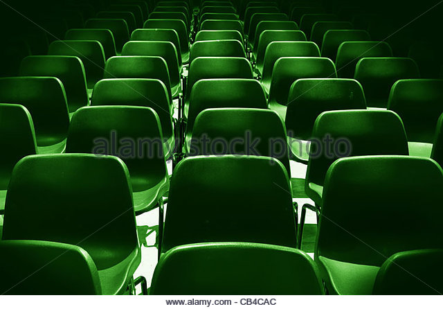 green chairs - Stock Image