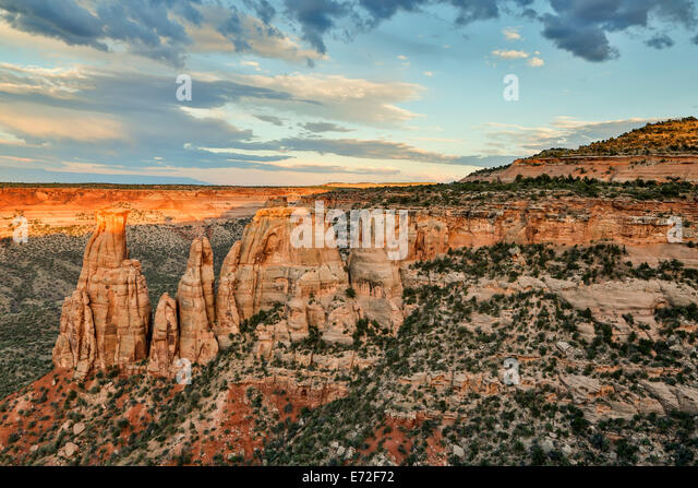 Sandstone monuments and formations, Colorado National Monument, Grand Junction, Colorado USA - Stock-Bilder