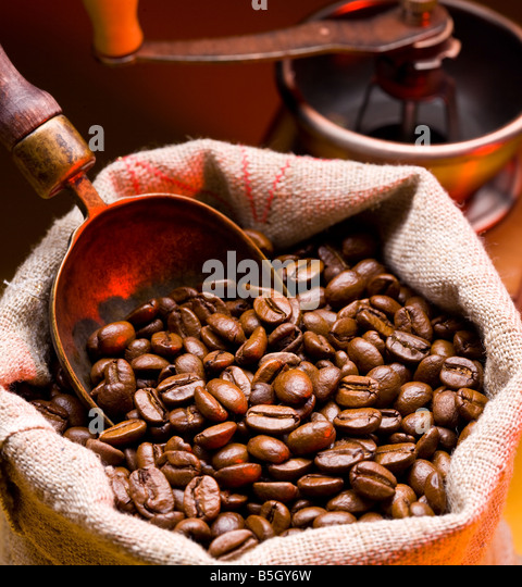 coffee is in a sack - Stock-Bilder
