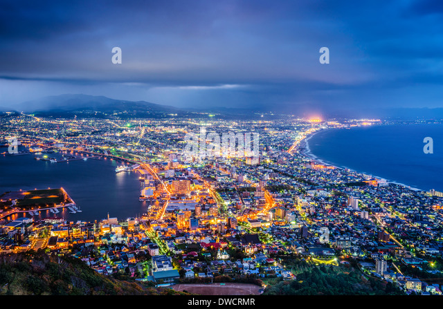Hakodate, Japan aerial view. - Stock Image