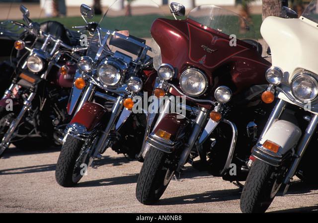 Daytona Beach Florida fl bike week motorcycle party festival - Stock Image