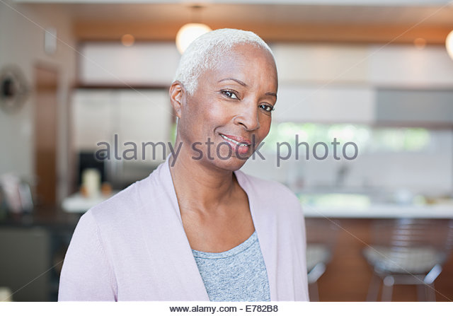 Mature woman indoors - Stock Image