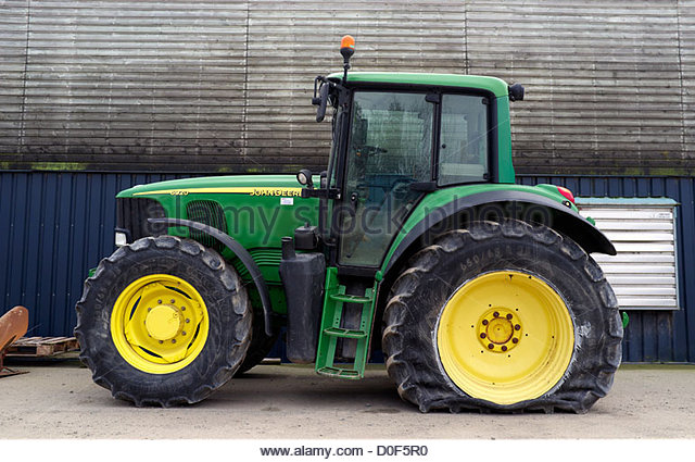 John Deere Tractor Tyre : Deflated stock photos images alamy