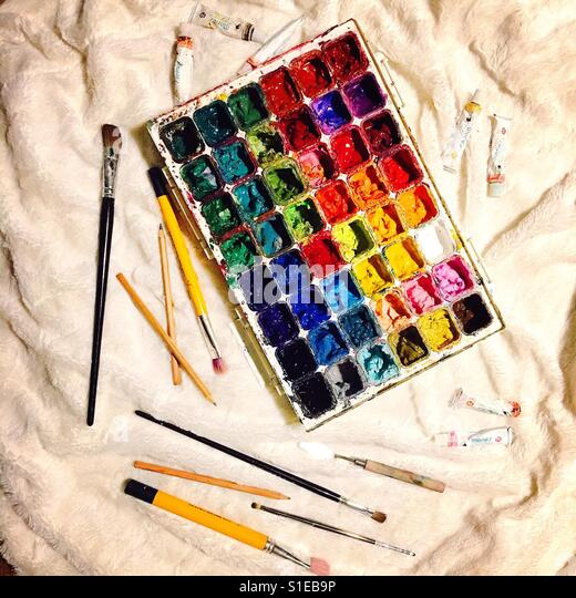 Art materials - Stock Image