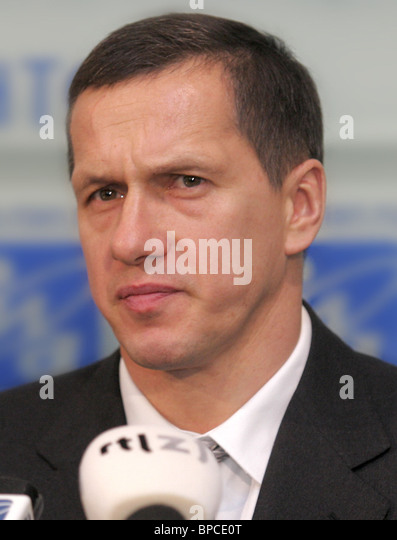 Press conference of Russian Natural Resources Minister in Moscow - Stock Image