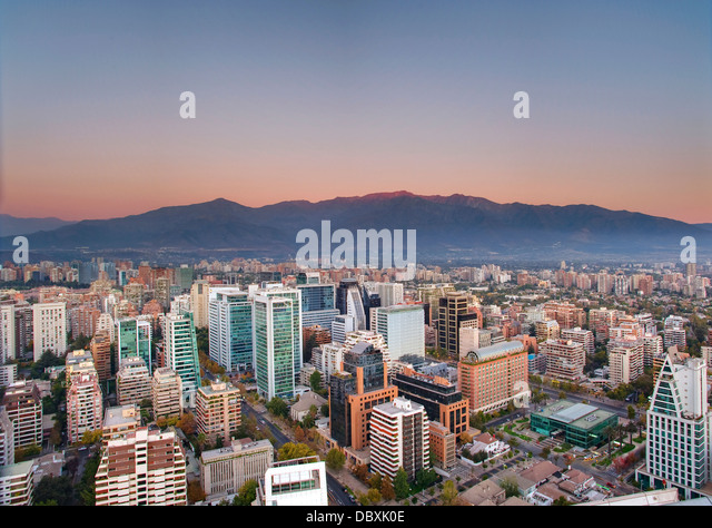 Santiago, Chile skyline - Stock Image