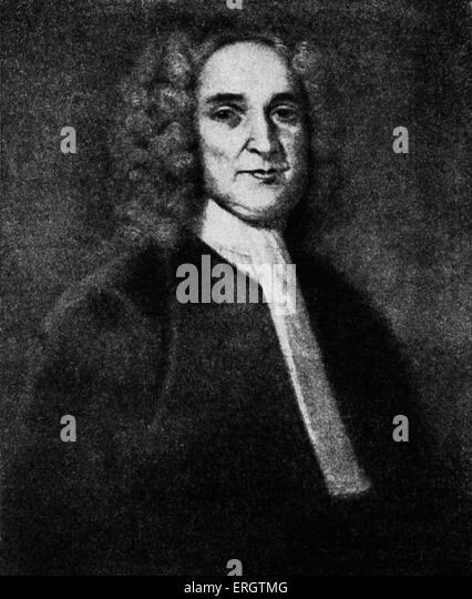 John Cotton - New England Puritan minister: 4 December 1585 – 23 December 1652.  After a painting. - Stock Image