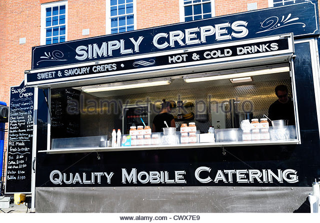 Simply Crepes mobile catering at Ludlow food festival, Shropshire, UK. - Stock Image