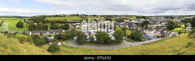 Panorama of Cashel in Ireland. - Stock Image