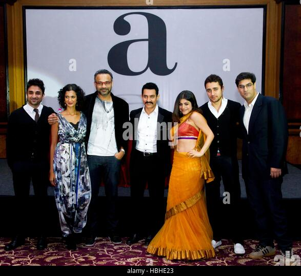 Bollywood Delhi Belly actor Vir Das Poorna Jagannathan Abhinay Deo Aamir Khan Shenaz Treasurywala,Imran Khan Kunaal - Stock-Bilder