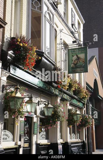Manchester England UK Jackson's Row The Old Nag's Head pub bar - Stock Image