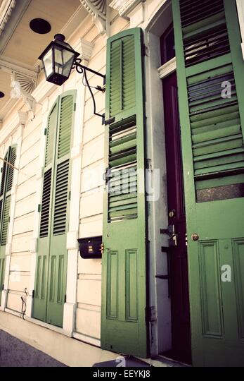 Front doors of a home in New Orleans - Stock-Bilder