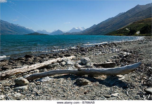 Lake Wakatipu, near Glenorchy, South Island, New Zealand - Stock Image