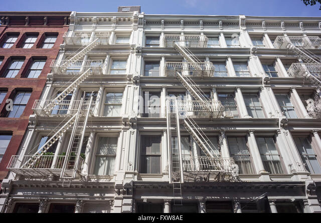 Cast Iron District,   Soho, Manhattan, New York City - Stock Image