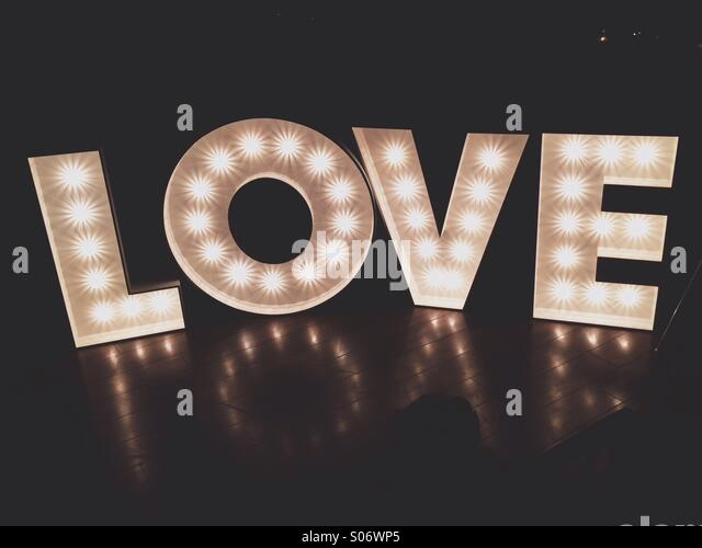 Love letters - Stock Image