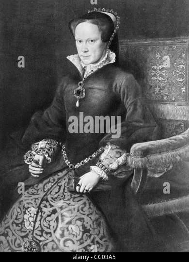 Queen Mary I, of England - Stock Image