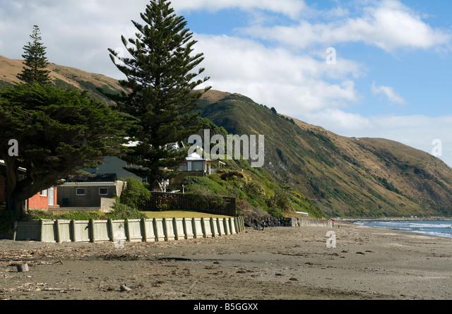 Paekakariki Beach, North Island, New Zealand - Stock Image