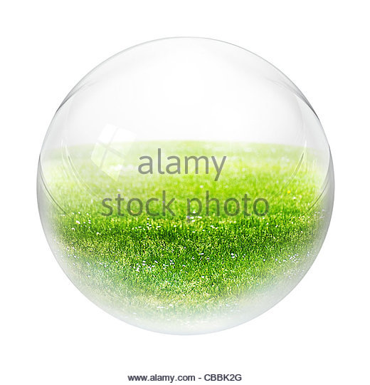 grass in bubble - Stock Image