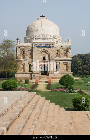 Sheesh Gumbad, Lodi Gardens, Delhi, India Sheesh Gumbad, Lodi Gardens, Delhi, Inde Sheesh Gumbad, Lodi-Gärten, - Stock-Bilder