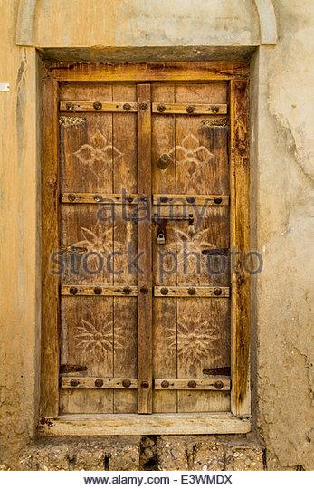 Carving detail of door stock photos