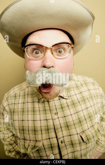 Man Yells - Stock Image