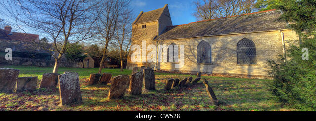 St Marys Church Ardley, Oxfordshire, England, United Kingdom panorama - Stock Image