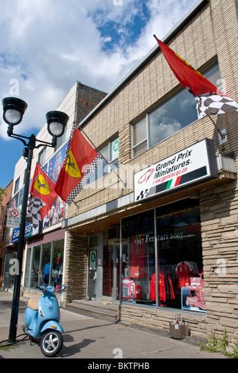 Little Italy Boulevard Saint Laurent Montreal - Stock Image