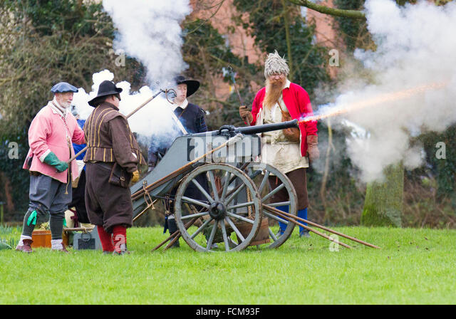 Battle of Nantwich, Cheshire, UK.  23rd January 2016.  For over 40 years the faithful troops of The Sealed Knot - Stock Image