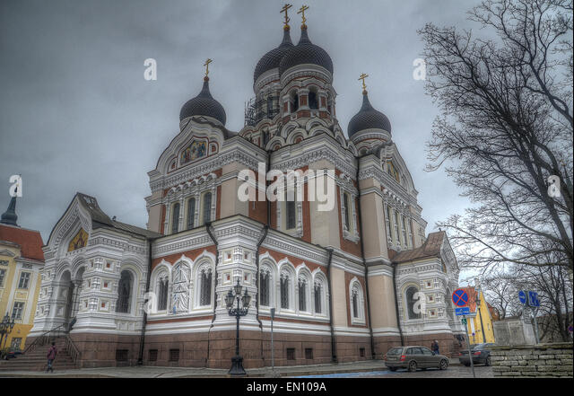 Estonian Tallinn Orthodox Church of Moscow Patriarchate - Stock Image