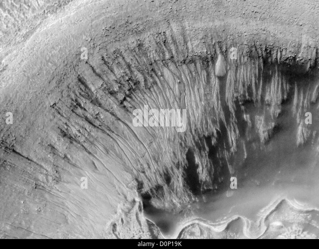 Crater Shows Evidence for Water - Stock Image