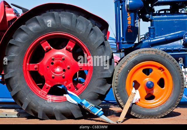 Large Tractor Wheels : Tractor tyres stock photos images