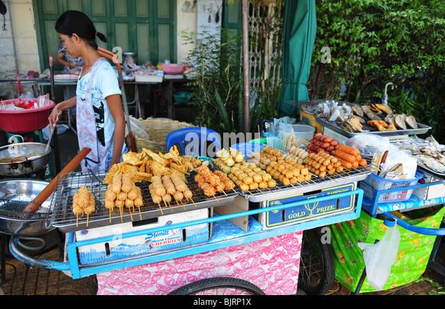 Thai street food market - Stock Image
