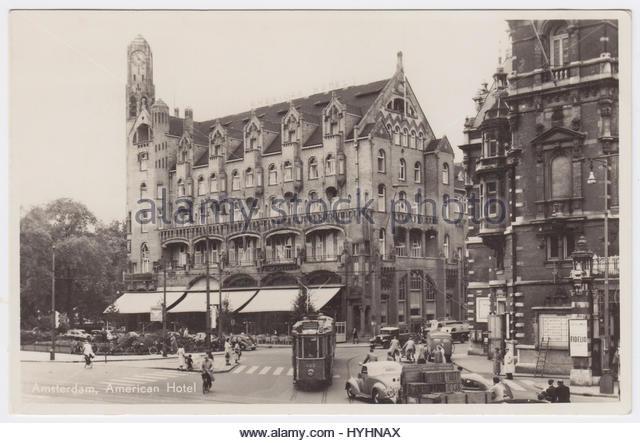 American Hotel, Amsterdam, Netherlands - Stock Image