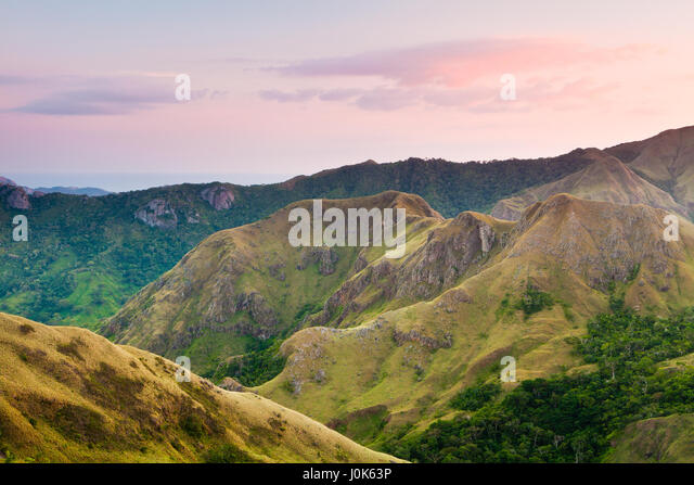 Evening in Altos de Campana National Park, Republic of Panama. - Stock-Bilder