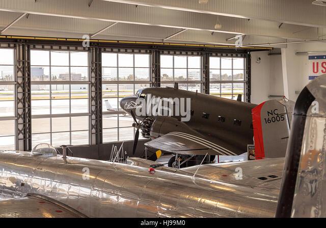 Santa Ana, CA, USA - January 21, 2017: Douglas C-47 airplane called Dakota but now christened Willa Dean displayed - Stock Image
