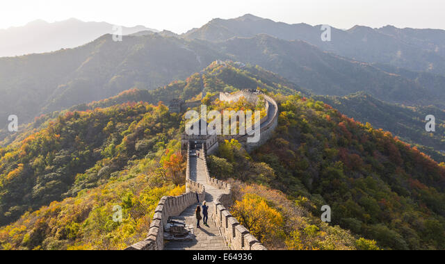 The Great Wall at Mutianyu nr Beijing in Hebei Province, China - Stock Image