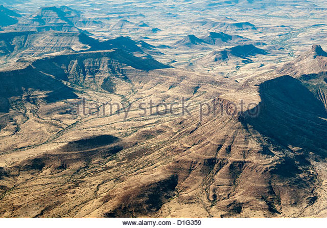 Aerial view, Namibia, Africa - Stock Image
